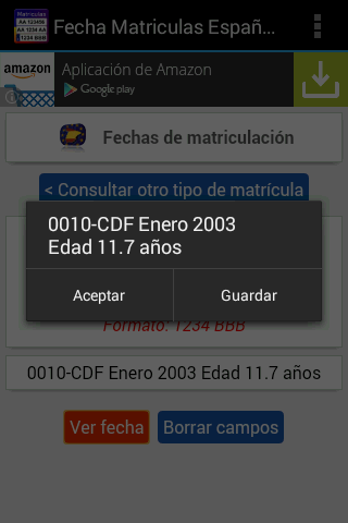 Fecha Matrículas de Coches - screenshot