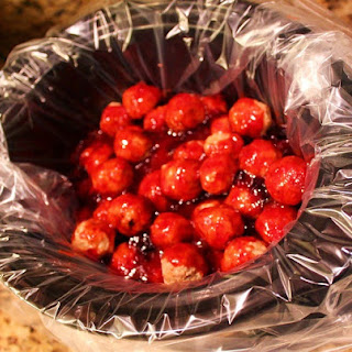 Slow Cooker Cranberry Spiced Glazed Meatball Appetizers