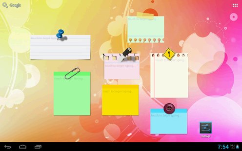 Sticky Notes Widget Full