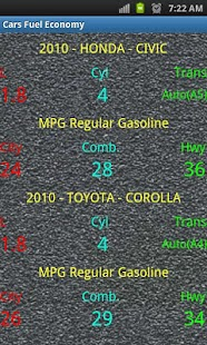 Car Fuel Economy - screenshot thumbnail