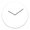 Flat design clock W -MeClock icon