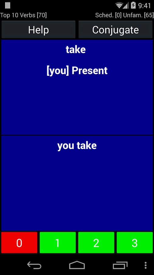 English Verb Trainer- screenshot