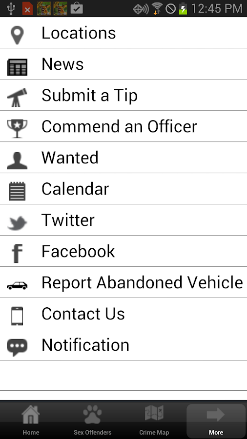Presque Isle Police Department- screenshot