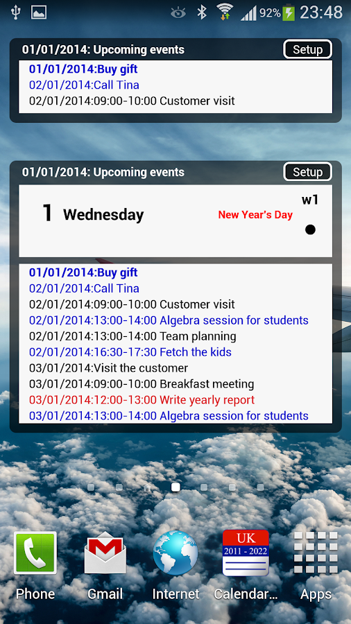 Calendar Pro/en - full version- screenshot