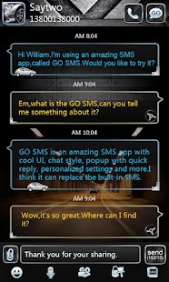 GO SMS PRO AiBlue ThemeEX- screenshot thumbnail