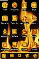 Screenshot of ADW Red Fire & Magma Theme Pro