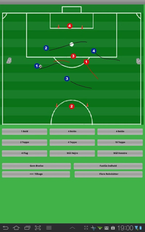Fodbold Team Organizer Tablet - screenshot