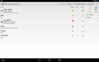 Screenshot of WiFi Manager