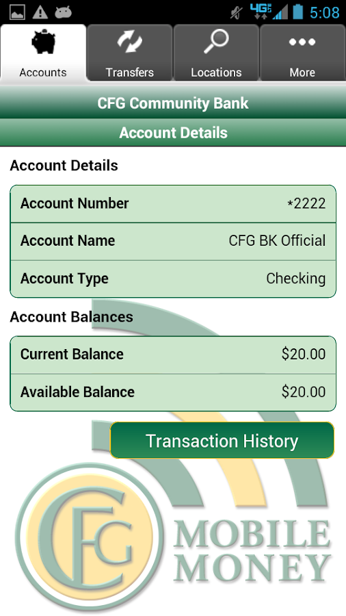 CFG Community Bank Mobile- screenshot