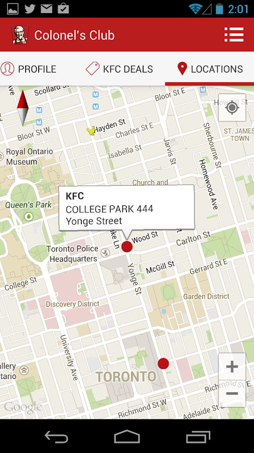 KFC Canada Colonel's Club- screenshot