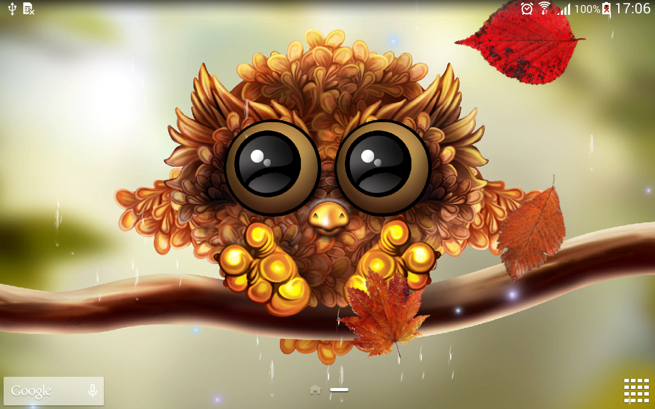 cute owl fall themed wallpapers - photo #7