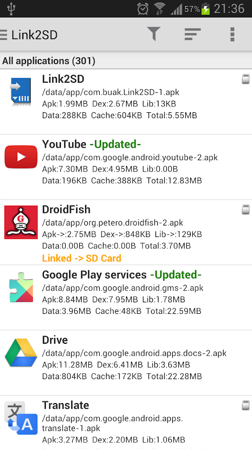 Link2SD - screenshot