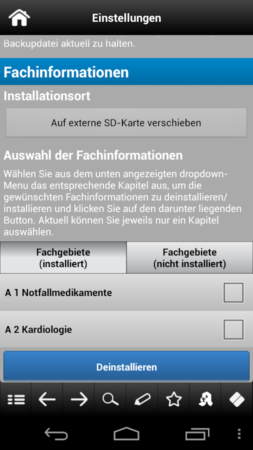 Arzneimittel pocket 2012 - screenshot