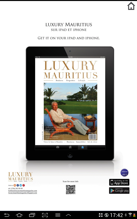 Luxury Mauritius magazine- screenshot