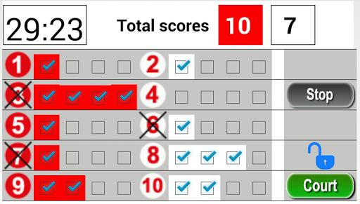 Gateball Scoreboard
