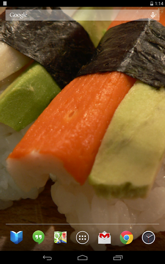 Delicious Sushi Live Wallpaper - screenshot