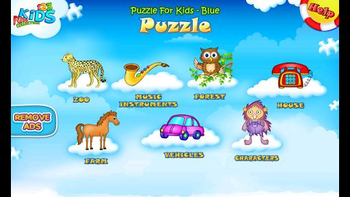 123 Kids Fun PUZZLE BLUE Free