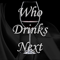 Who drinks next? Drinking game icon