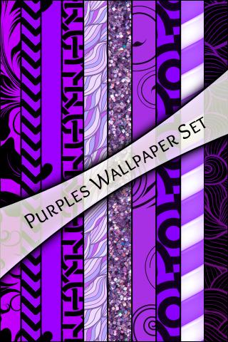 WALLPAPER SET - Purples