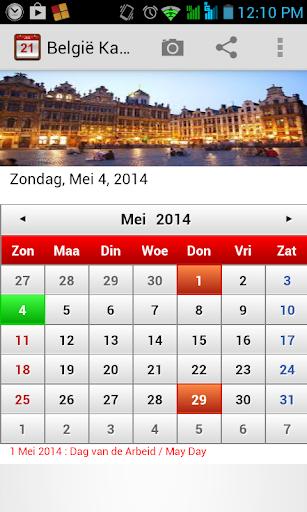 België Kalender 2014