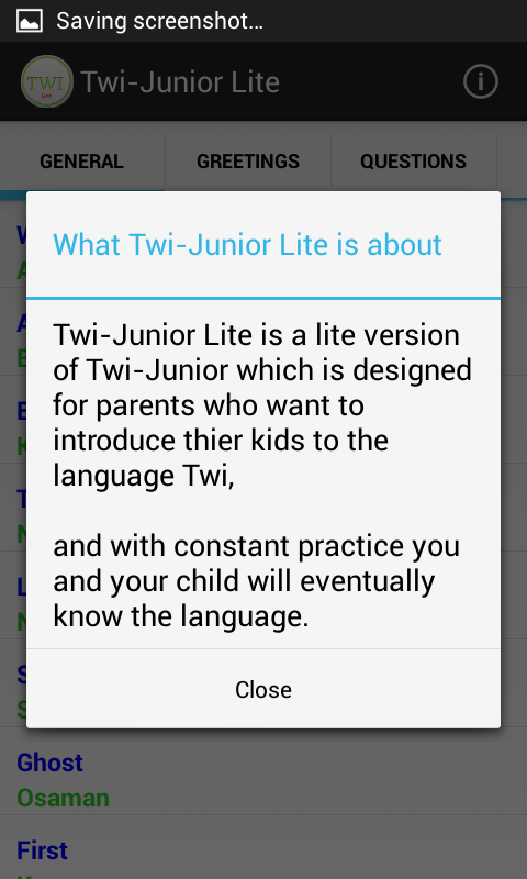Twi-Junior Lite- screenshot