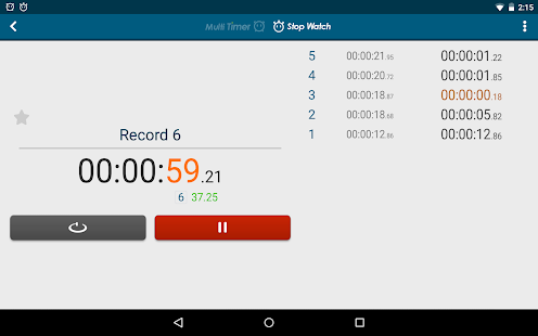 Multi Timer StopWatch - screenshot thumbnail