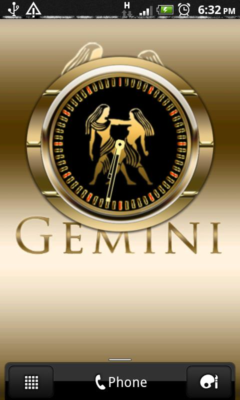 GEMINI - Zodiac Clock - screenshot