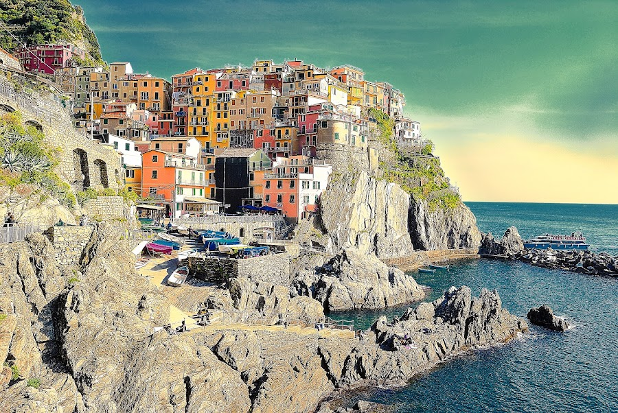 Manarola by Dario Tarasconi - City,  Street & Park  Neighborhoods ( Urban, City, Lifestyle,  )