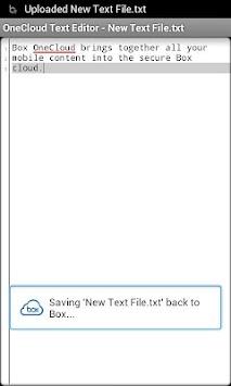OneCloud Text Editor APK screenshot thumbnail 2