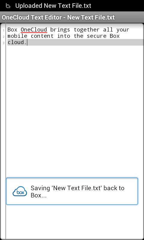 OneCloud Text Editor- screenshot