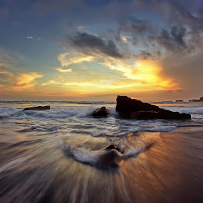 Motion by Arya Satriawan - Landscapes Sunsets & Sunrises ( clouds, water, sky, nature, color, national geographic, sunset, beach, landscape )