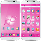 Windows 7 Pink GO Launcher EX