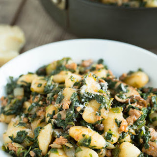 Spicy Sausage, Spinach, and Mushroom Gnocchi.