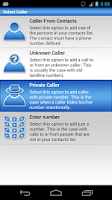 Screenshot of Fake Call Log