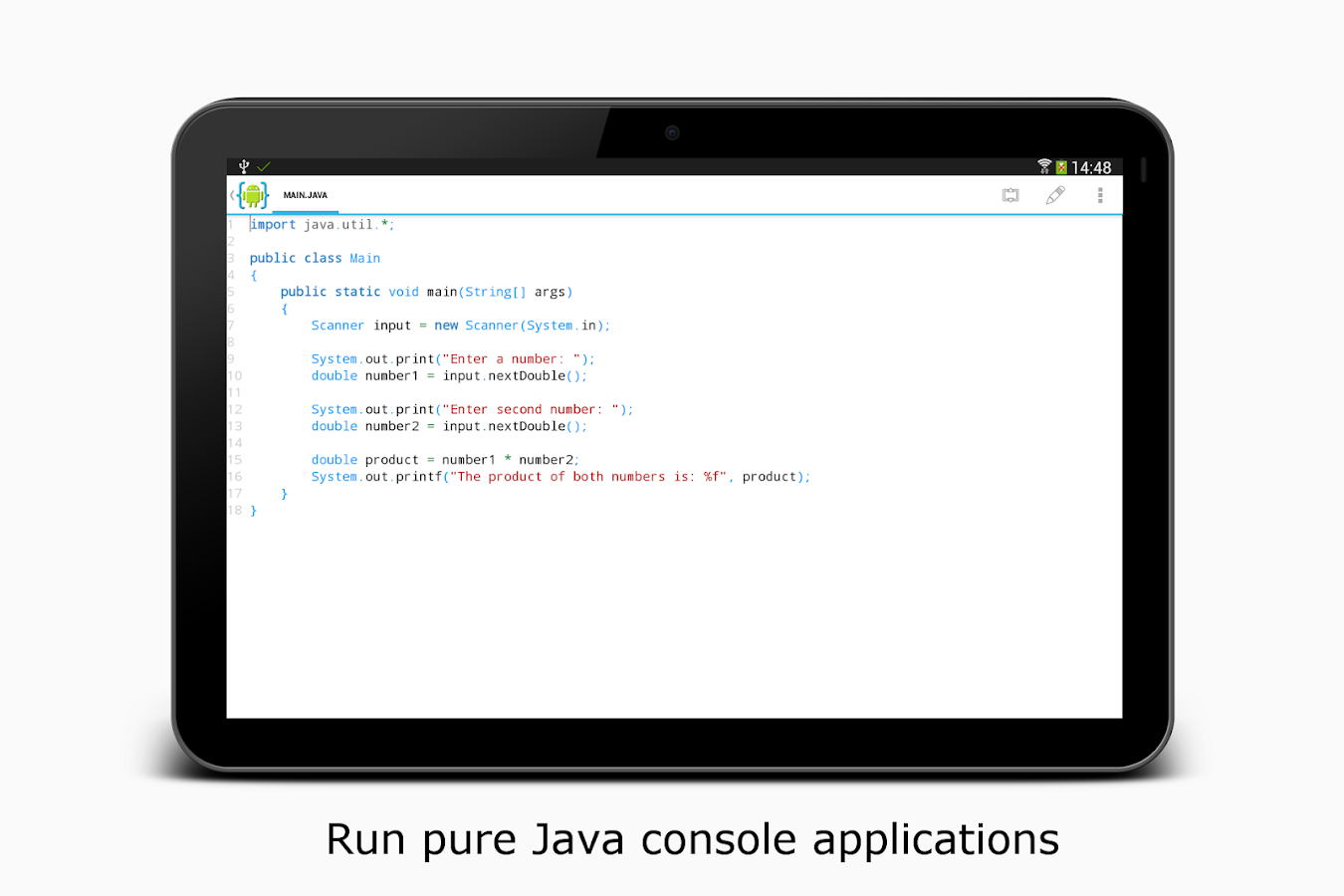 AIDE- IDE for Android Java C++ – zrzut ekranu