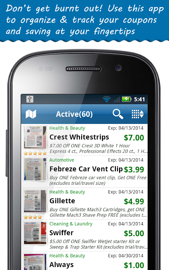 So, we are going to inform you everything in detail about best coupon apps for iPhone and Android in 1. SnipSnap Coupon App. SnipSnap is a perfect coupon app which provides you with a vast collection of coupons for stores. This app can help you to control your expenses and win free rewards from different stores. You can get details of amazing coupons on your purchases and can win prices .