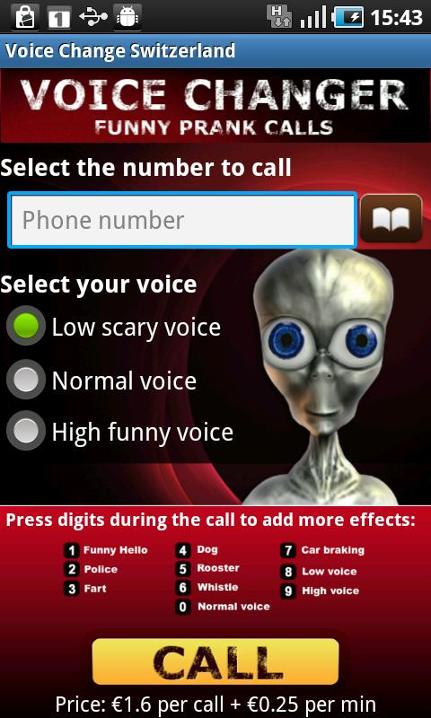 Voice Change Swiss - screenshot