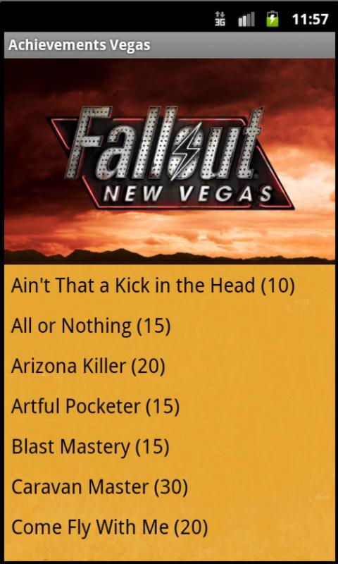 Fallout New Vegas Achievements - screenshot