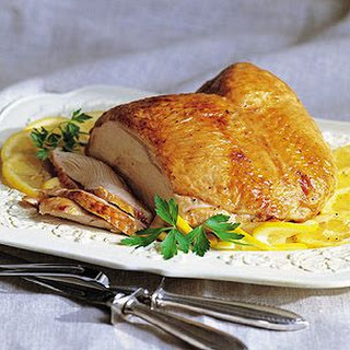 Brined Turkey Breast with Lemon-Parsley Gravy