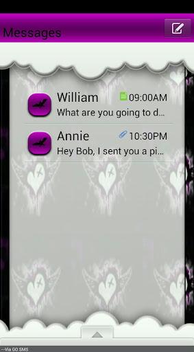 GO SMS THEME BatsNSkulls4U
