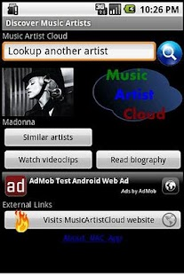 Music Artist Cloud App- screenshot thumbnail