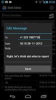Screenshot of SMS Editor