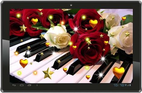 Rose n Music live wallpaper