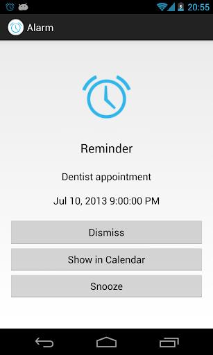 Alarm for Android Calendar