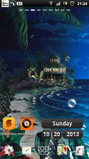 玩個人化App|沙滩夜现场壁纸免費|APP試玩