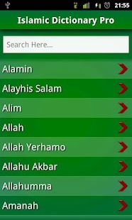 Islamic Dictionary Pro: FREE!! - screenshot thumbnail