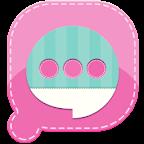 Easy SMS Pink Garden Theme
