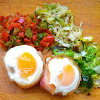 Eggs in Bacon Baskets