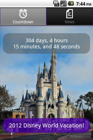 Disney World Countdown - screenshot