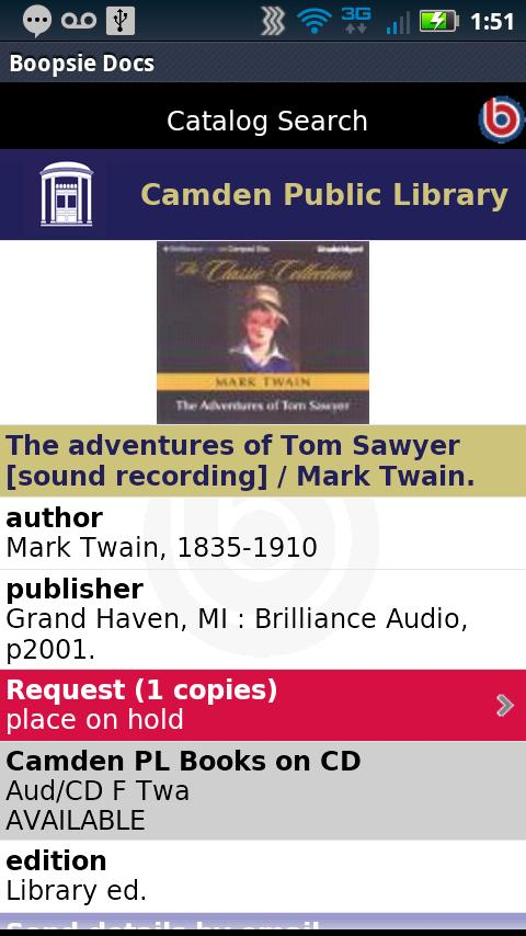 Camden Public Library Mobile- screenshot